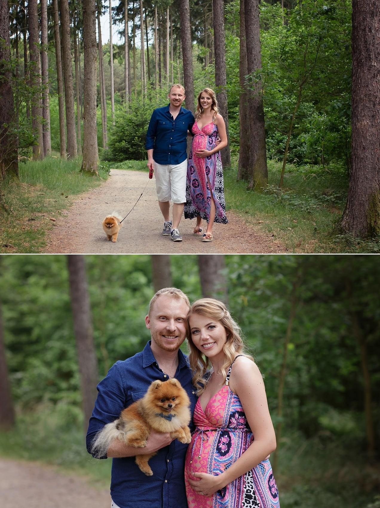 Těhotenské focení s partnerem a psem