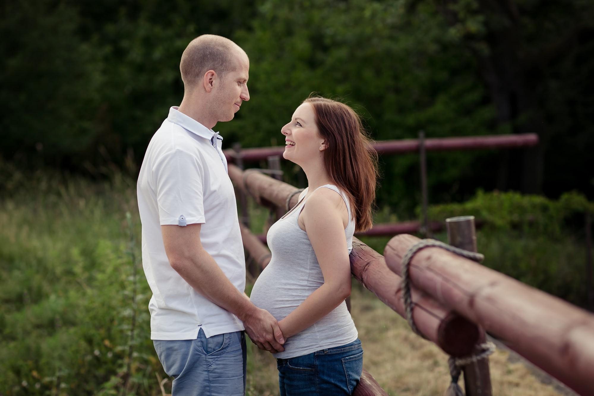 Těhotenské focení v přírodě, Těhotenské fotografie v přírodě