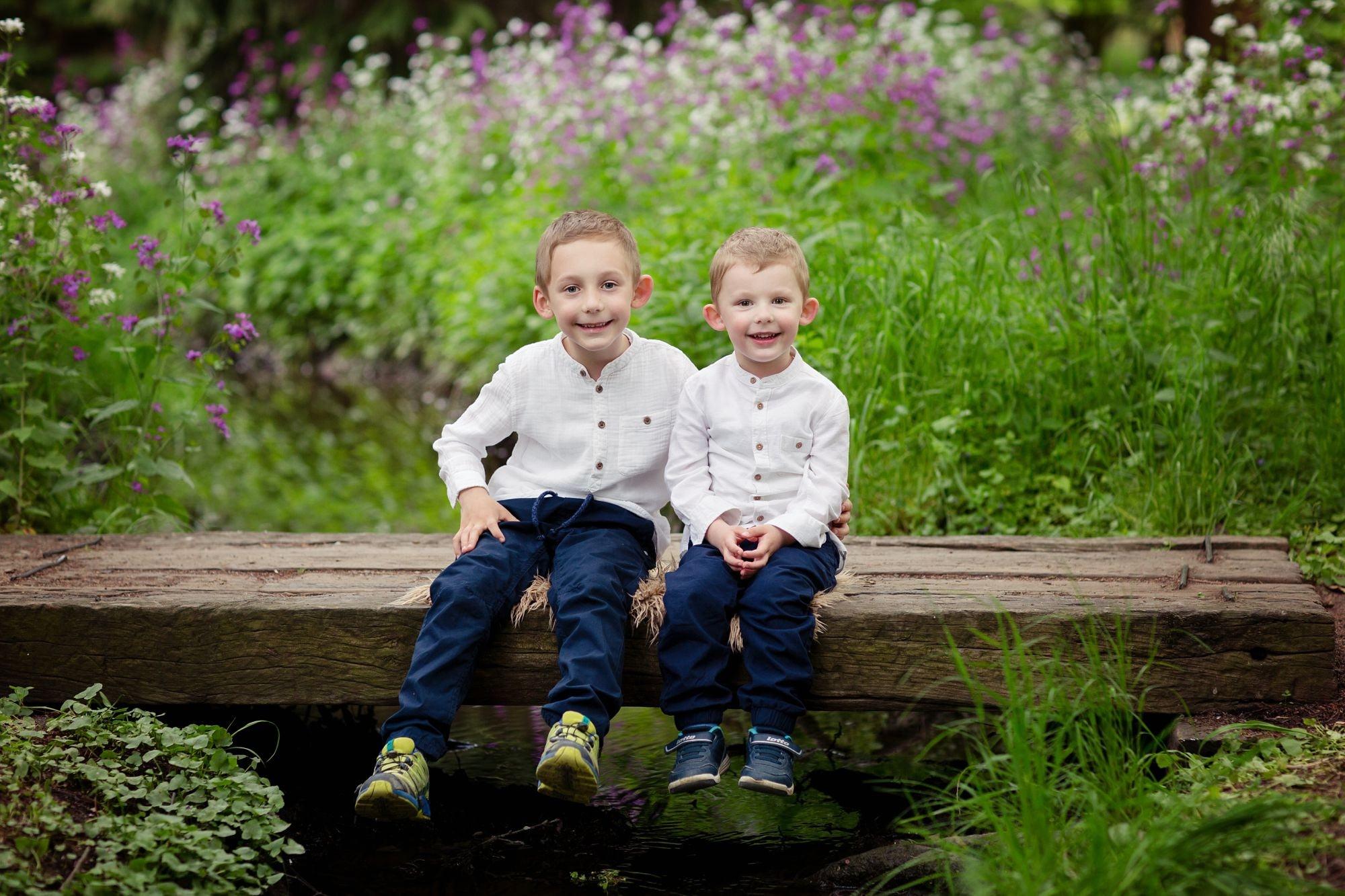 Foceni deti v Dendrologicke zahrade