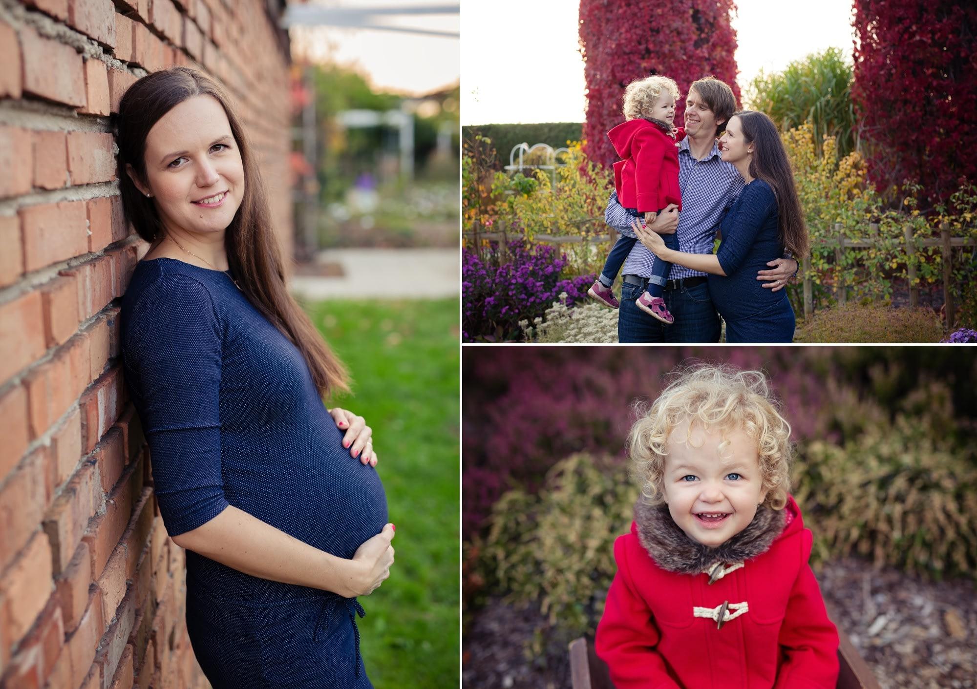 Rodinné těhotenské focení v přírodě v Dendrologické zahradě